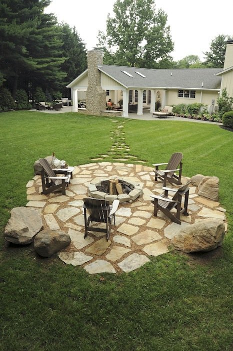 Stones and Rock Design Fire Pit