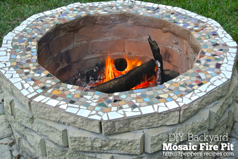 DIY Backyard Mosaic Fire Pit