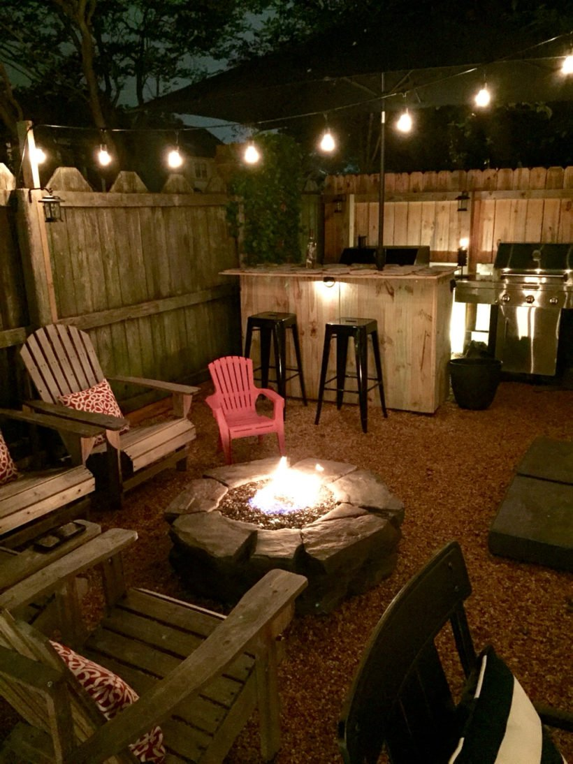 Intimate Backyard Fire Pit Area