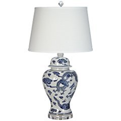 Dragon Blue and White Porcelain Table Lamp