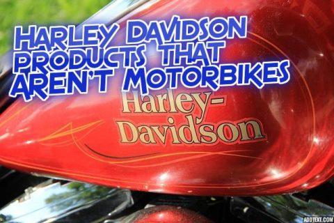 Harley Davidson products that AREN'T Motorbikes