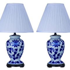 Park Madison Lighting Ginger Jar Blue and White Table Lamps