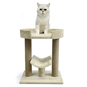 Basic Cat tree on two levels with platform and scratching posts